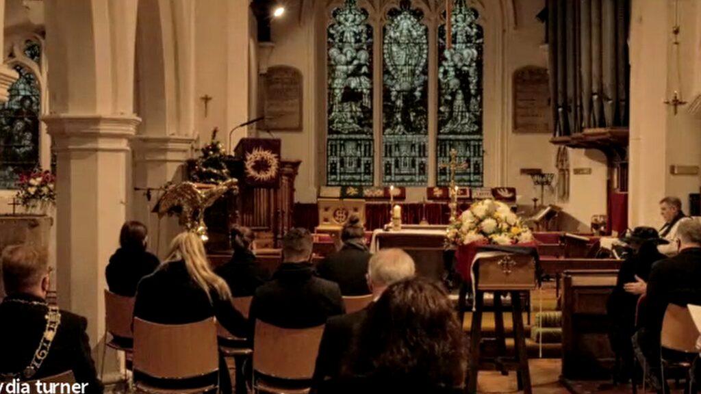 St Cuthberts Church Coffin Vicar Blessing Coffin