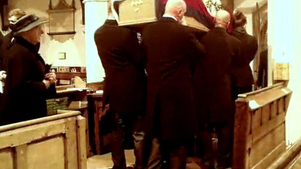 St Cuthberts Church Coffin Leaving