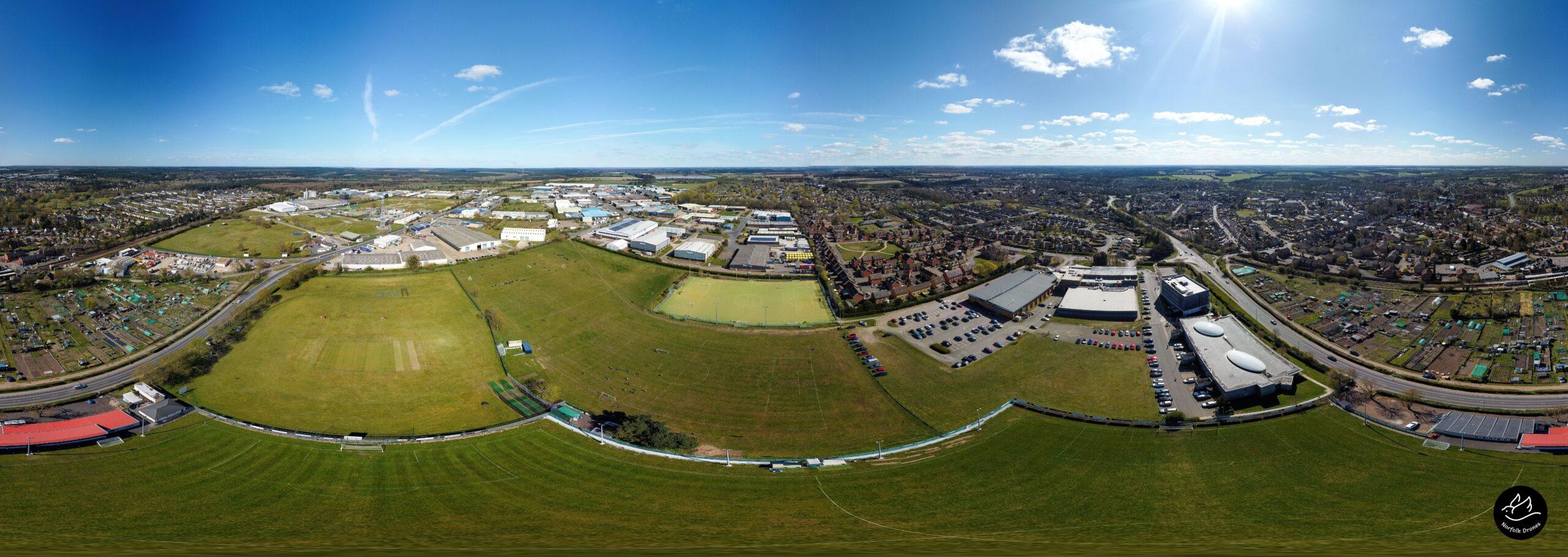 Thetford town-Sports-Centre-Football Club Norfolk Drone